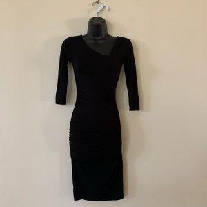 Catherine Malandrino Favorites Black Ruched Dress